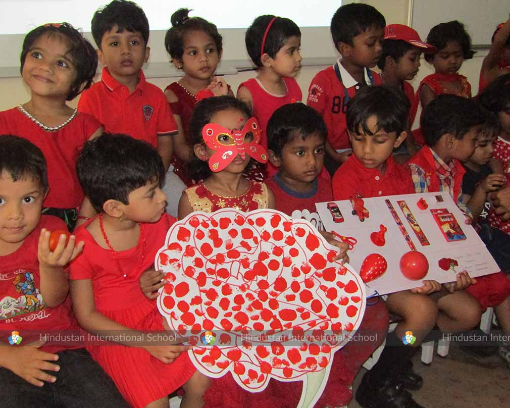 RED DAY CELEBRATION – NURSERY - Hindustan International