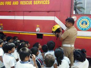 Jr.KG Visit to Fire station